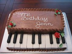 Making a Piano Keyboard Cake