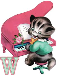 alphabets chats - Page 6 Alphabet, Piano Music, My Music, Rollin Stones, The Beach Boys, All About Cats, Choir, Cat Breeds, Disney Characters