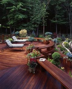 Multi-level decks add visual interest and help to define activity areas | Decks By Kiefer LLC #deck