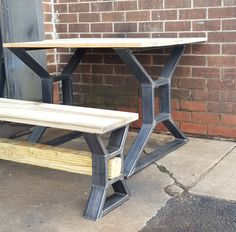 Heavy Duty steel tubing legs. This listing is for set of 2 Steel Tubing X Table Legs and 4 Bench Legs. 28 H x 30 W - Table Legs 16 H x 12 W - Bench Legs Middle squire on Table legs is 7 x 7 Middle squire on Bench legs is 4 x 4 - Made from Steel Tubing - 3 x 1 x 14 ga wall - Finish - Raw steel, Clear coated, Black flat. ** Drilled holes, Not included Screws ***Working with custom dimensions. Fast quote***