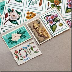 vintage wedding stamps.