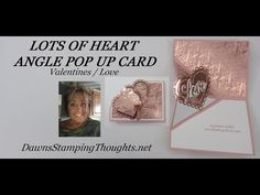 Fancy Fold Cards, Folded Cards, Valentines Day Cards Handmade, Valentine Ideas, Heart Pop Up Card, Dawns Stamping Thoughts, Wedding Shower Cards, Special Birthday Cards, Card Making Supplies
