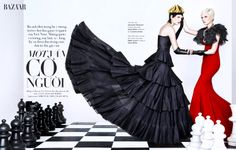 a game of chess: chrystal copland by an le for harpers bazaar vietnam may 2013