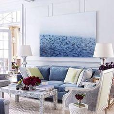 Blue and white! \\\ Image via: #InteriorDesigner: @ashleywhittakerdesign . #decor #decorate #decorating #design #designinspo #designideas #dekor #decoração #homedecor #homedesign #homeideas #inspo #instahome #instadecor #instadesign #interiordesign #inter