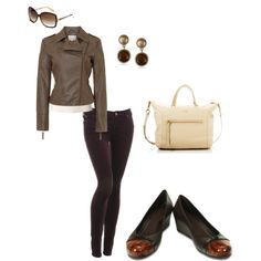 Love this ensemble with @Crocs' tortoiseshell-toe capped shoes! #style #ideas #fashion #fall #outfits