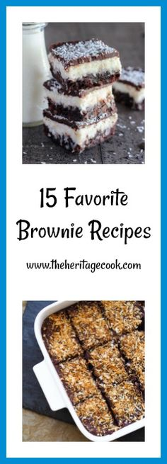 15 Favorite Brownie Recipes from the most talented women on the web! Join me in drooling over these beauties as I put the finishing touches on the manuscript for my next cookbook! #baking #ChocolateMonday #brownies Brownie Recipes, Cheesecake Recipes, Dessert Recipes, Just Desserts, Delicious Desserts, Apple Cinnamon Bread, Homemade Brownies, Yummy Cookies, Dessert Bars