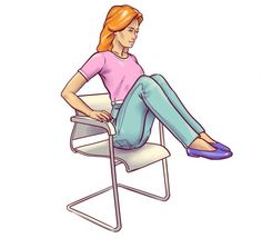 Amazing Chair Exercises For Flat Belly You Must Try Fitness Workouts, Fitness Workout For Women, Easy Workouts, Yoga Fitness, Fitness Nutrition, Nutrition Store, Fitness Tips, Lower Belly Workout, Tummy Workout