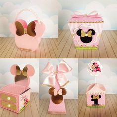 Arquivo De Corte Minnie Rosa Luxo Halloween First Birthday, 1st Birthday Cake For Girls, 1st Birthday Parties, Minnie Mouse Birthday Decorations, Minnie Mouse 1st Birthday, Mickey Mouse Crafts, Mini E, Mickey Love, Mouse Parties