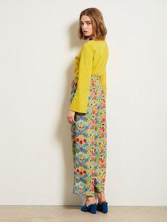 メキシコ柄ワイドパンツ(ワイドパンツ)|Lily Brown(リリーブラウン)|ファッション通販|ウサギオンライン公式通販サイト