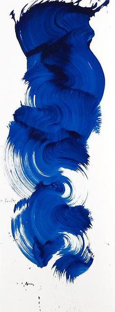 UK born artist James Nares is best known for his single brush stroke paintings capturing the very moment of their creation.