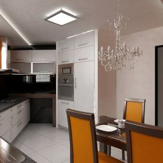 Stylish kitchen. Classic style mixed with glamour elements.