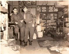 17th Airborne supply room