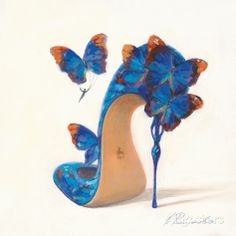 Sketches of Love I Póster por Inna Panasenko en AllPosters. Butterfly Shoes, Flower Shoes, Art And Illustration, Illustrations, Flower Fashion, Fashion Art, Fashion Shoes, Fairy Shoes, Sketches Of Love