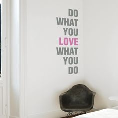 """This Cool keep calm wall sticker features the """"Do What You Love What You Do"""" Quote in a beautiful typography. This wall quote sticker is easy to apply and remove. Vinyl wall stickers are a great choice for wall decor, simply peel & stick this quote wall art to get a unique design to your home decor.$44.95"""