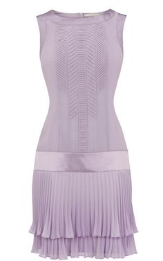 Adorable. >Karen Millen 20s pleat dress lilac  perfect for Easter