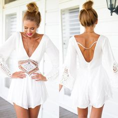 Only $13.49 Women,Summer Style,Chiffon,Hollow Out,Sexy Backless,Retro Vestidos,Beach Dress