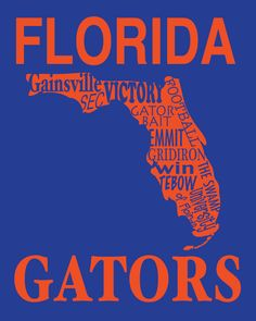 I am a Gator always will be...I don't take this lightly. I bleed orange and blue forever. I'm obsessed