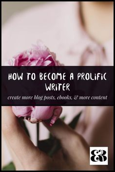 Want to create more blog posts, ebooks, and epic content? Here are my top tips on how to become a prolific writer, and what inspired me personally to create more.