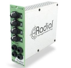 Radial Introduces Submix 4 x 1 Mixer Module For 500 Series - Pro Sound Web Professional Audio, Hdmi Cables, Fiber Optic, Mixer, Locker Storage, Music, Products, Musica, Musik