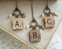 Personalized Initial Necklace Brass Filigree Wrapped Letter A B C D E F G - List of the best jewelry Letter Charm Necklace, Letter Charms, Monogram Necklace, Personalized Necklace, Key Necklace, Charm Necklaces, Pendant Necklace, Wire Jewelry, Jewelry Crafts