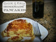 Quick, Easy & Delicious Pancakes SHOULDN'T Come From A Box! Check Out My Recipe. #TaylorMadeHomestead