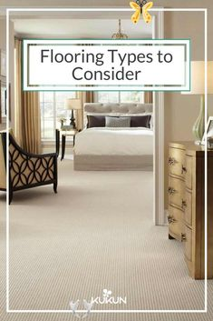 Various types of flooring options for your home To understand which flooring suits your home best, you need to know about the different types of flooring and their features. [Flooring Ideas, Flooring Types, Types Of Flooring, Floor Ideas, Carpet Floors, Bedroom Ideas, Cream Carpet, Wooden Dresser]<br> Understand the various types of flooring options so that you can choose and install the best alternative in your house. Best Flooring, Types Of Flooring, Flooring Options, Carpet Flooring, Flooring Ideas, Cream Carpet Bedroom, Woodland Nursery Decor, Wood Trim, Grey Carpet