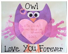 Owl Love You Forever Valentine for Daddy from Hazel Lou Who (Whooooo)