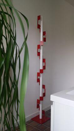 DNA, acier et Led #lampe #lampe #design #art #acier #béton