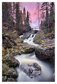 Taivalkongas rapids, Oulanka National Park, Finland