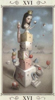 Xem Lá XVI. The Tower - Nicoletta Ceccoli Tarot bài tarot