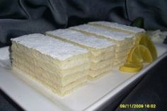 Prajitura Alba ca Zapada - Culinar. Romanian Food, Romanian Recipes, Best Cheese, Appetizers For Party, Cake Cookies, Just Desserts, Vanilla Cake, Cake Decorating, Sweet Tooth