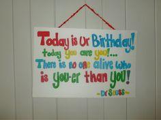 Dr Seuss birthday poem