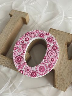 Painting Wooden Letters, Painted Letters, Hand Painted, Dot Letters, Canvas Letters, Wood Letters Decorated, Pottery Painting Designs, Dot Art Painting, Mandala Dots