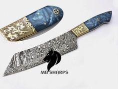 Damascus Steel Kitchen Knives, Damascus Chef Knives, Damascus Knife, Cleaver Knife, Engraved Knife, Chef Knife, Garden Trowel, Etsy Shop, Unique Jewelry