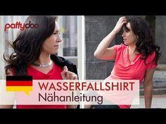 Ein Shirt mit Wasserfallausschnitt nähen   Sewing Tutorial for a Waterfallshirt   pattydoo Blog