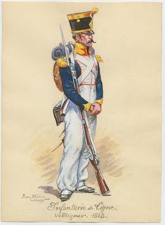 Volteggiatore della compagnia volteggiatori di un rgt. di fanteria di linea,1813