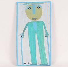 Self-Portrait by self-taught artist Mose Tolliver (c. 1920-2006), American (treebystream)