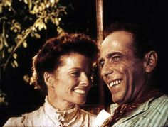Katharine Hepburn and Humphrey Bogart in THE AFRICAN QUEEN (1951). Directed by John Huston.