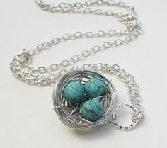 Handcrafted  Silver Nest Pendant Genuine by Kikiburrabeads on Etsy, $18.50