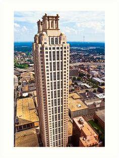 Above The Rest - 191 Peachtree On The Atlanta Skyline - Fine Art Print - Aerial View