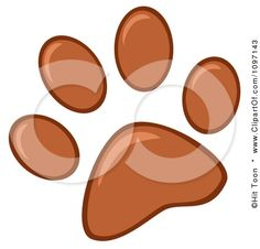Clipart Brown Dog Paw Print