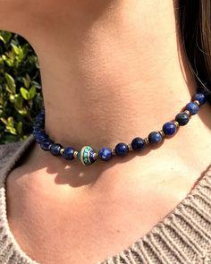 Sodalite 27 bead mala choker, that can also be worn as a wrap bracelet #malas