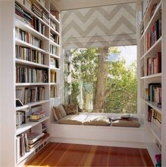 Build bookshelves yourself - house library in every room-Bücherregale selber bauen – Hausbibliothek in jedem Zimmer Build bookshelves yourself – house library in every room - Home Library Design, Room Interior Design, House Design, Interior Ideas, Ikea Interior, Modern Library, Modern Interior, Design Your Dream House, Interior Inspiration