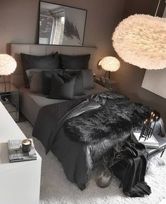 Living Room Design Ideas: Tips for choosing style, Decoration and Furniture - ChecoPie - Ceiling Design Ideas Black Bedroom Decor, Room Ideas Bedroom, Home Decor Bedroom, Teen Bedroom, Grey Bedroom Design, Interior Livingroom, Bedroom Designs, Entryway Decor, Wall Decor