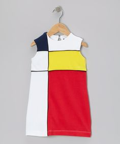 Take a look at this White & Red Makiko Mondrian Dress - Infant, Toddler & Girls on zulily today!
