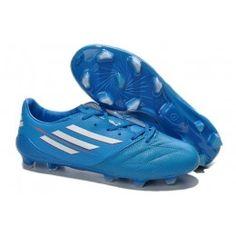hot sale online 1a20f a46ab Adidas Copa del Mundo 2014 F50 adizero Cuero FG Zapatillas azul cielo  blanco x1nV8