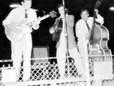 June 6, 1955 - Elvis, Scotty and Bill - In Concert At The High School Football Field - New Boston, Texas