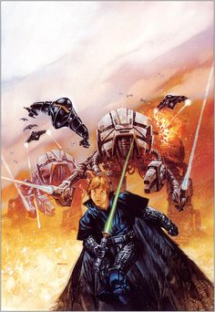 Star Wars: The Dark Empire II print, in bob zombi's signed lithographs and prints Comic Art Gallery Room Star Wars Jedi, Star Wars Art, Star Trek, Dark Empire, Star Wars Legacy, Star Wars Comics, Marvel Comics, Star Wars Images, Star War 3