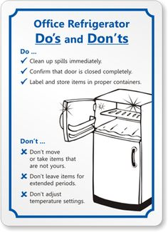 Kitchen Signs For Work Cabinets Used Clean Sign Cool Ideas My Library In 2019 Refrigerator Office Courtesy S 5269