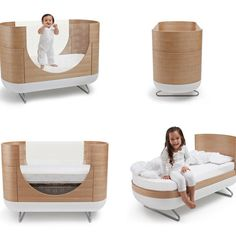 Ubabub Pod Cot & Junior Bed - Functional baby crib that converts into a junior bed
